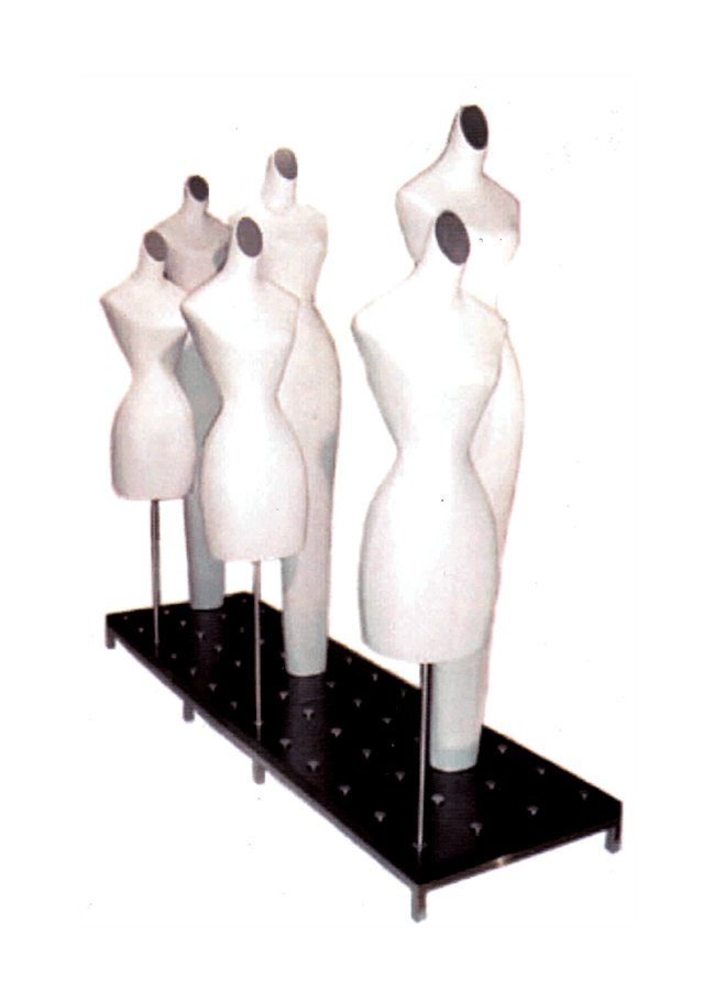 """Puck Platform  MWRB2484-1  24"""" x 84"""" Platform with Woman's accessory form and 3/4 accessory form"""