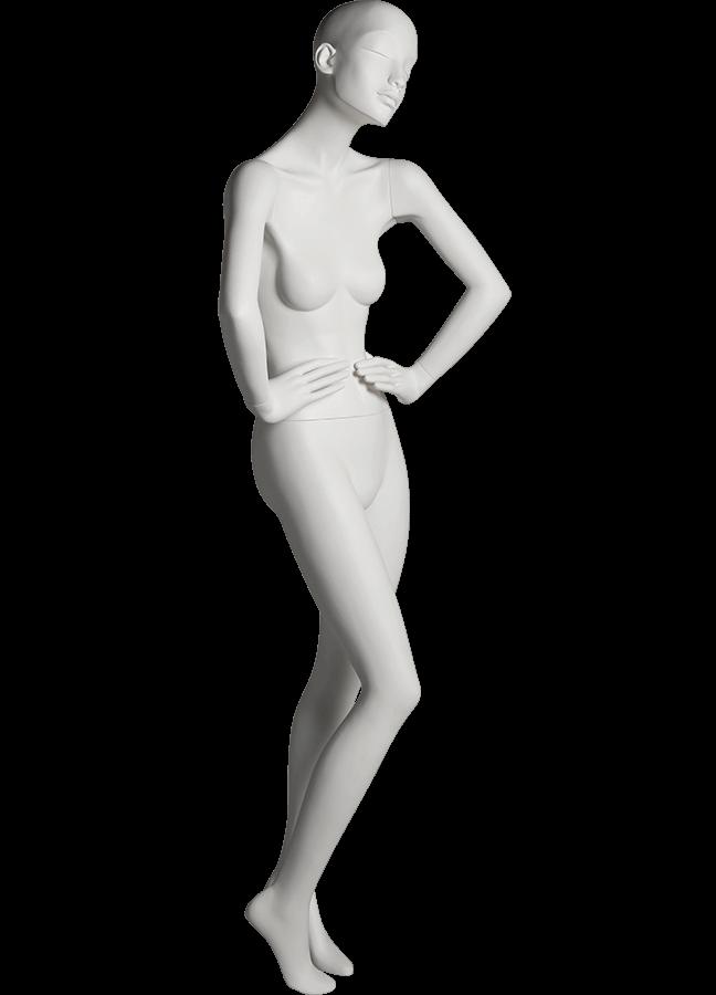 "HEARTBREAKER FEMALE POSE 1 FRONT   ITEM# HB-F1C RIGHT SIDE  Measurements:  Height 71""  Bust 32-1/2""  Waist 23-3/4""  Hip 34 1/2""  Heel 4"""