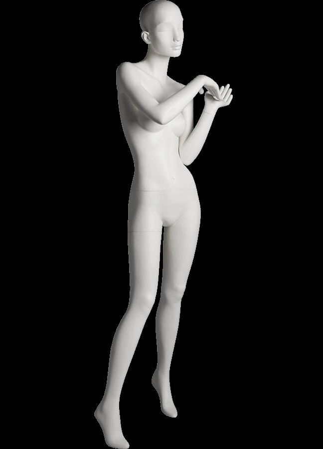 "HEARTBREAKER FEMALE POSE 2 RIGHT   ITEM# HB-F2C  Measurements:  Height 71""  Bust 32-1/2""  Waist 23-3/4""  Hip 34 1/2""  Heel 4"""