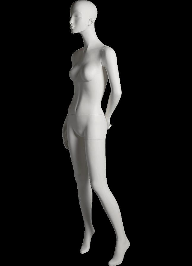 "HEARTBREAKER FEMALE POSE 3 LEFT   ITEM# HB-F3C  Measurements:  Height 71""  Bust 32-1/2""  Waist 23-3/4""  Hip 34 1/2""  Heel 4"""