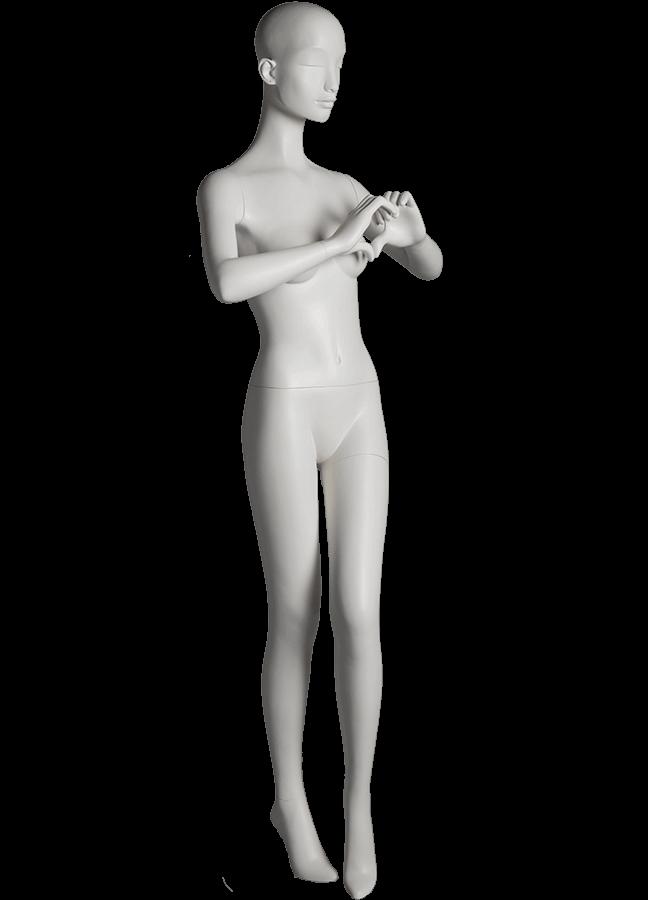 "HEARTBREAKER FEMALE POSE 4 RIGHT   ITEM# HB-F4C  Measurements:  Height 71""  Bust 32-1/2""  Waist 23-3/4""  Hip 34 1/2""  Heel 4"""