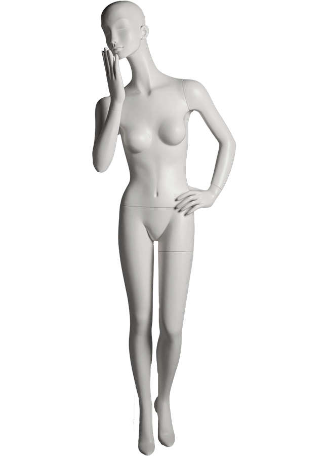 "HEARTBREAKER FEMALE POSE 5 FRONT  ITEM#  Measurements:  Height 71""  Bust 32-1/2""  Waist 23-3/4""  Hip 34 1/2""  Heel 4"""