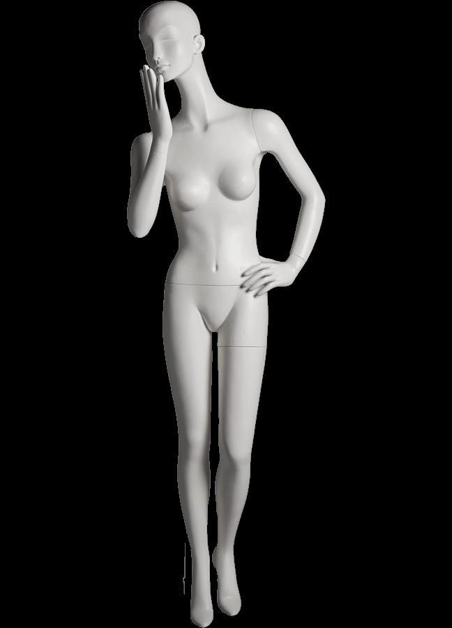 "HEARTBREAKER FEMALE POSE 5   ITEM# HB-F5C  Measurements:  Height 71""  Bust 32-1/2""  Waist 23-3/4""  Hip 34 1/2""  Heel 4"""