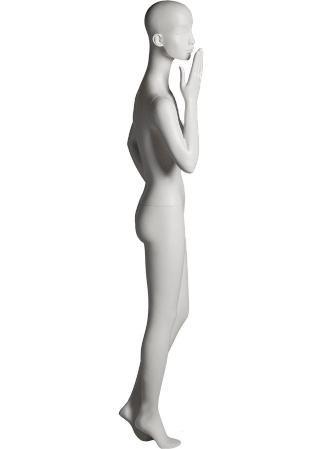 "HEARTBREAKER FEMALE POSE 5 RIGHT   ITEM#  Measurements:  Height 71""  Bust 32-1/2""  Waist 23-3/4""  Hip 34 1/2""  Heel 4"""