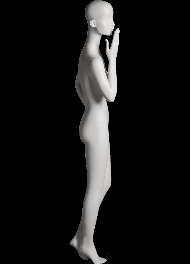 "HEARTBREAKER FEMALE POSE 5 RIGHT   ITEM#  Measurements:  Height 71""  Bust 32-1/2""  Waist 23-3/4""  Hip 34 1/2""  Heel 4"""