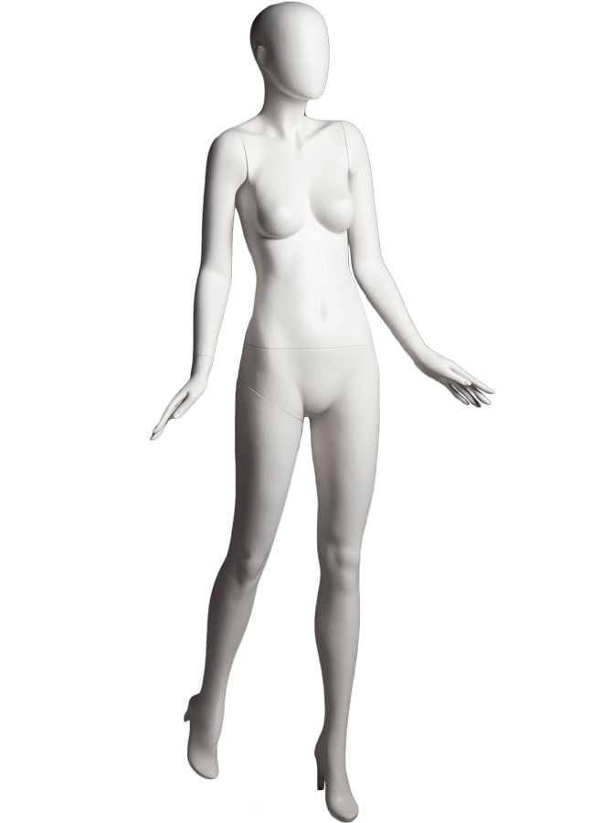 "SHADE POSE 1-A ITEM # SHA-F1-A   Measurements: Height 74""  Bust 32-1/4""  Waist 24-7/8""  Hip 36-1/2"" Footprint 9-1/2""  Heel 4"""