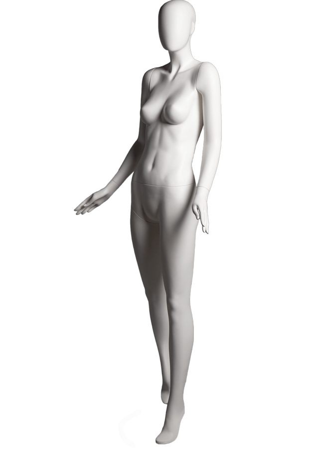 "SHADE POSE 1-A ITEM # SHA-F1-A LEFT   Measurements: Height 74""  Bust 32-1/4""  Waist 24-7/8""  Hip 36-1/2"" Footprint 9-1/2""  Heel 4"""