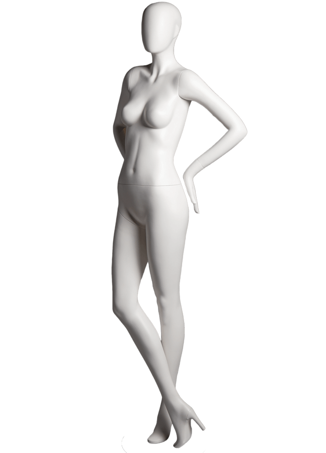 "SHADE POSE 5-A ITEM# SHA-F5-A LEFT   Measurements: Height 74""  Bust 32-1/4""  Waist 24-7/8""  Hip 36-1/2"" Footprint 9-1/2""  Heel 4"""