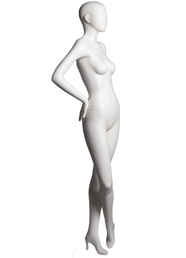 "HADE POSE 5-A ITEM# SHA-F5-A RIGHT   Measurements: Height 74""  Bust 32-1/4""  Waist 24-7/8""  Hip 36-1/2"" Footprint 9-1/2""  Heel 4"""