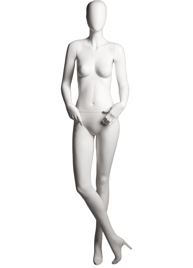 "SHADE POSE 5-B ITEM#SHA-F5-B   Measurements: Height 74""  Bust 32-1/4""  Waist 24-7/8""  Hip 36-1/2"" Footprint 9-1/2""  Heel 4"""