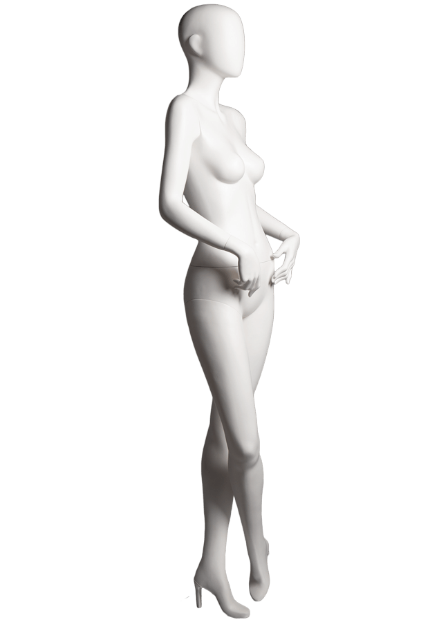 "SHADE POSE 5-B ITEM#SHA-F5-B RIGHT   Measurements: Height 74""  Bust 32-1/4""  Waist 24-7/8""  Hip 36-1/2"" Footprint 9-1/2""  Heel 4"""