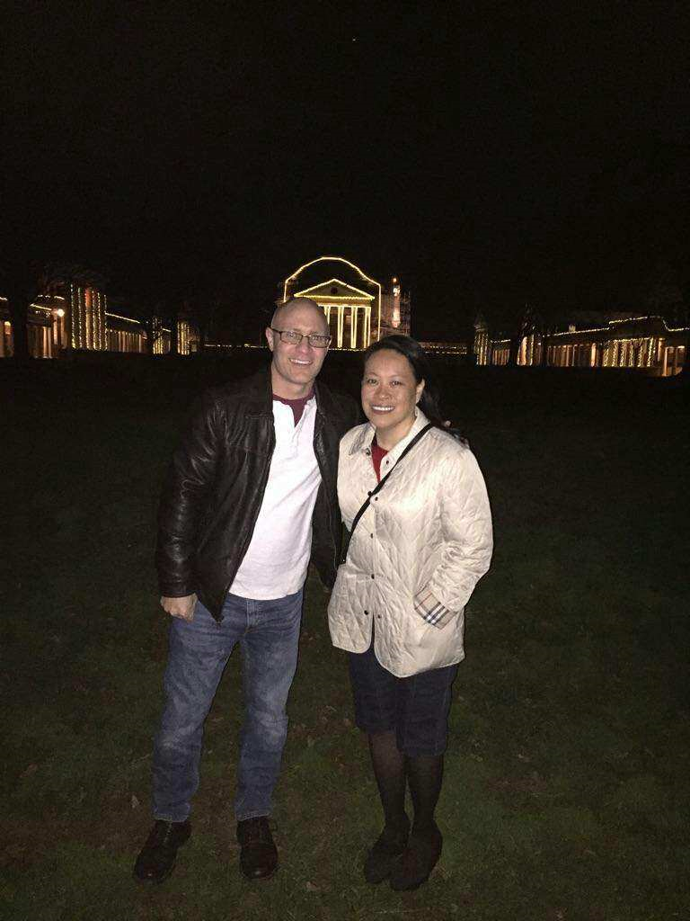 Rob and Susan visiting Grounds as alumni