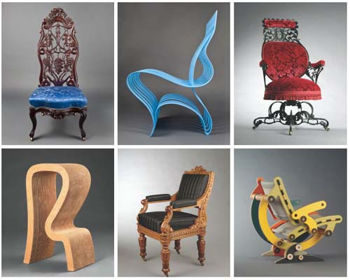 """A few amazing examples from the """"Art of Seating"""" exhibition."""