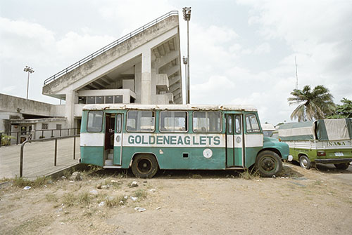 © Thomas Hoeffgen. The Nigerian's national soccer team's touring bus.
