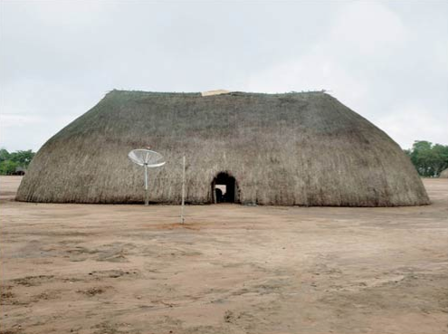 © Cedric Delsaux, Xing Hut, Amazonian Forest, Brazil, 2008.
