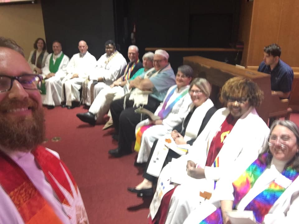 The Rev. Paige Hanks with clergy from Allendale UMC and other congregations in St Petersburg