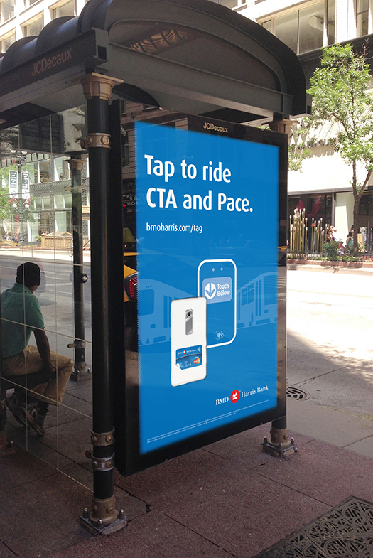 BMO Harris Contactless Debit Out of Home Campaign