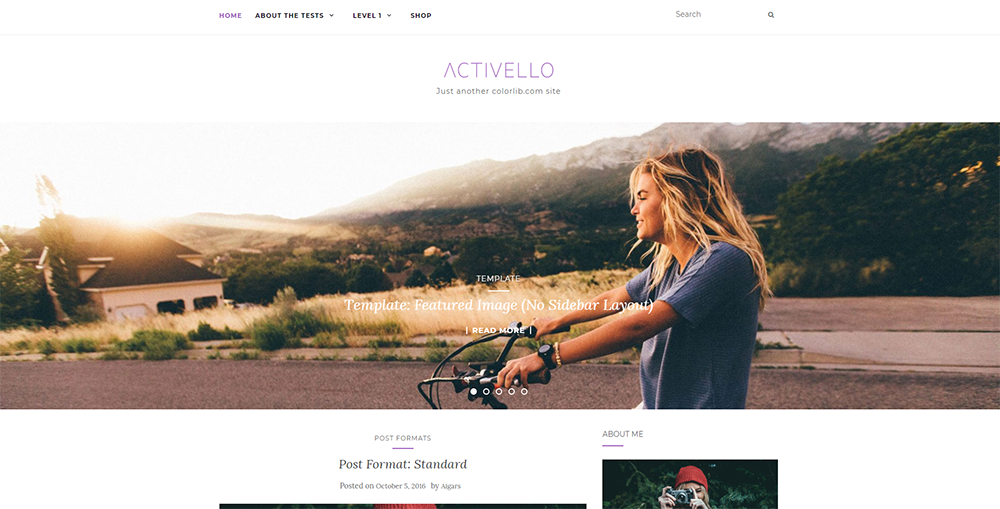 Sixty Eight Ave - Activello wordpress theme