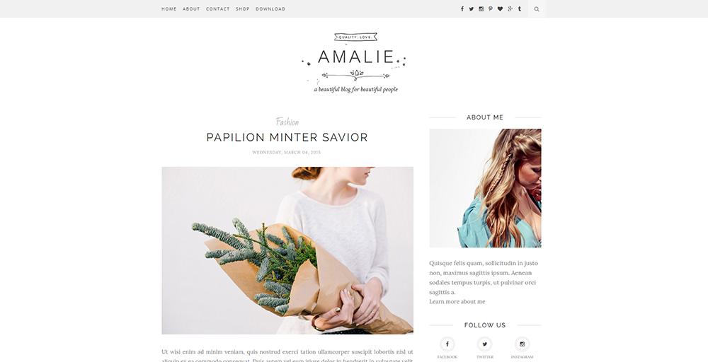 Sixty Eight Ave - Amalie blogger theme