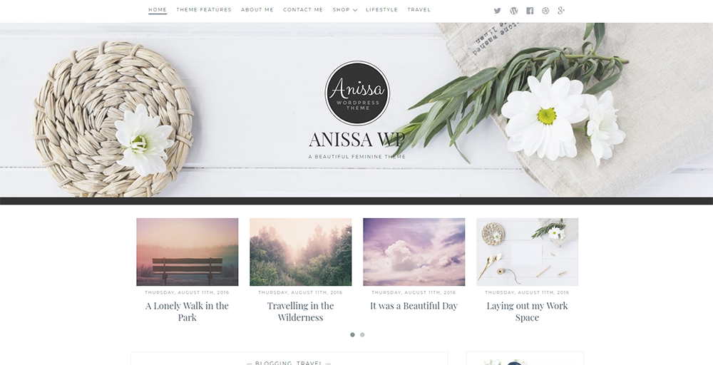 Sixty Eight Ave - anissa wordpress theme