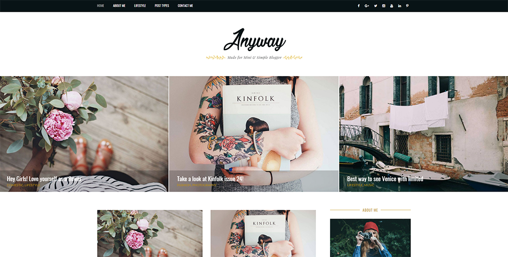Sixty Eight Ave - anyway wordpress theme