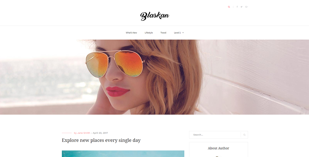 Sixty Eight Ave - blaskan wordpress theme