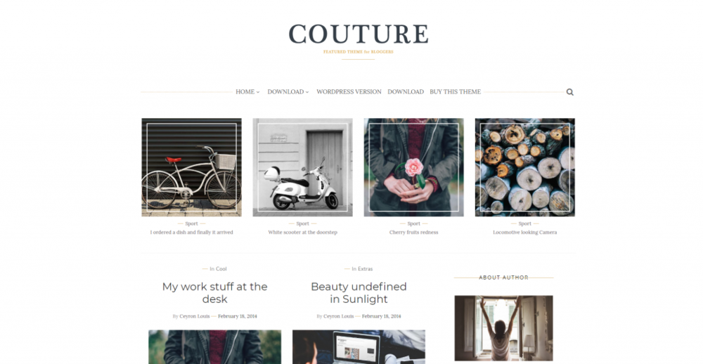 Sixty Eight Ave - Couture Blogger theme