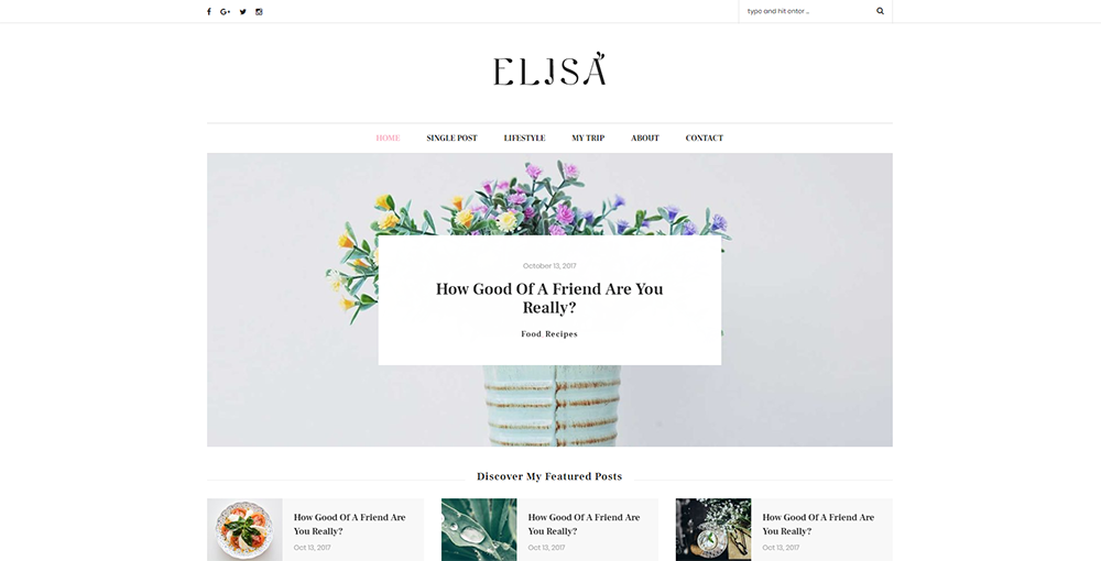 Sixty Eight Ave - elisa wordpress theme