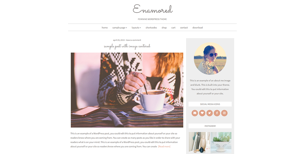 Sixty Eight Ave - enamored wordpress theme