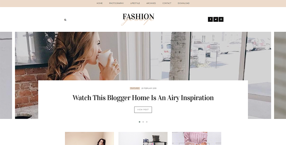 Sixty Eight Ave - Fashion Gossip Blogger Theme