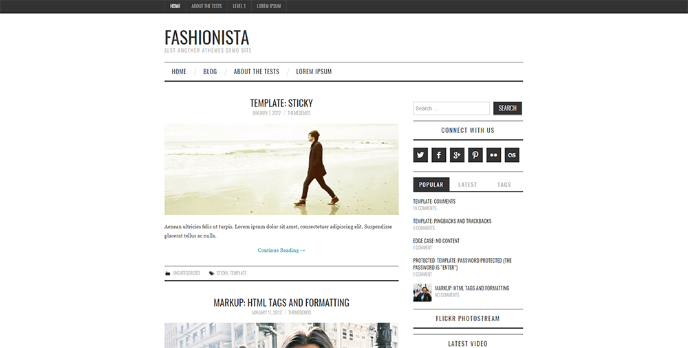 Sixty Eight Ave - fashionista wordpress theme
