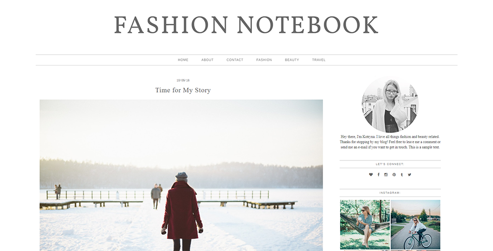 Sixty Eight Ave - fashion notebook wordpress theme