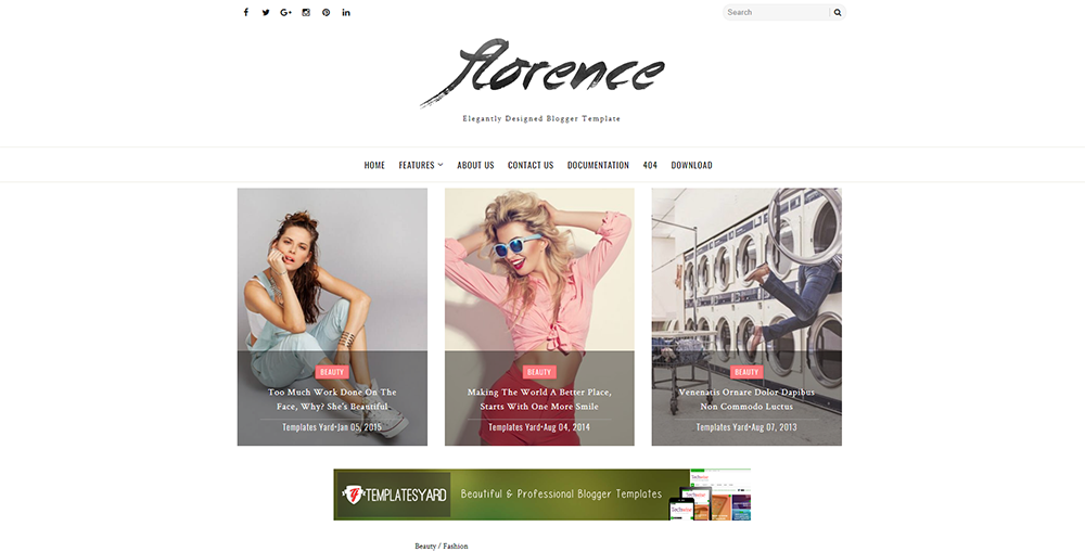 Sixty Eight Ave - florence blogger theme