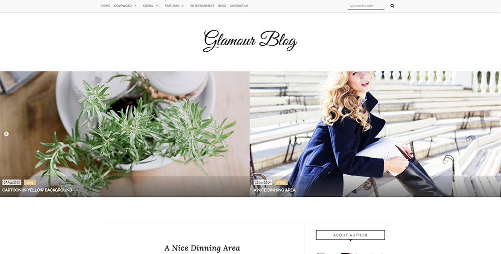 Sixty Eight Ave - glamour blogger theme