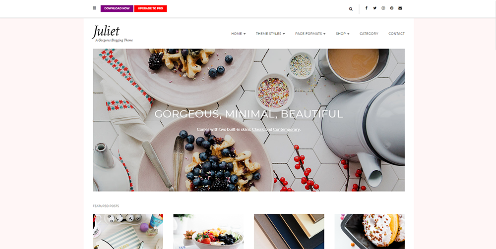 Sixty Eight Ave - juliet wordpress theme