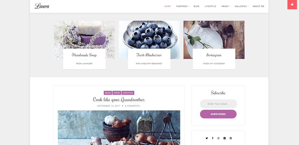 Sixty Eight Ave - laura lite wordpress theme