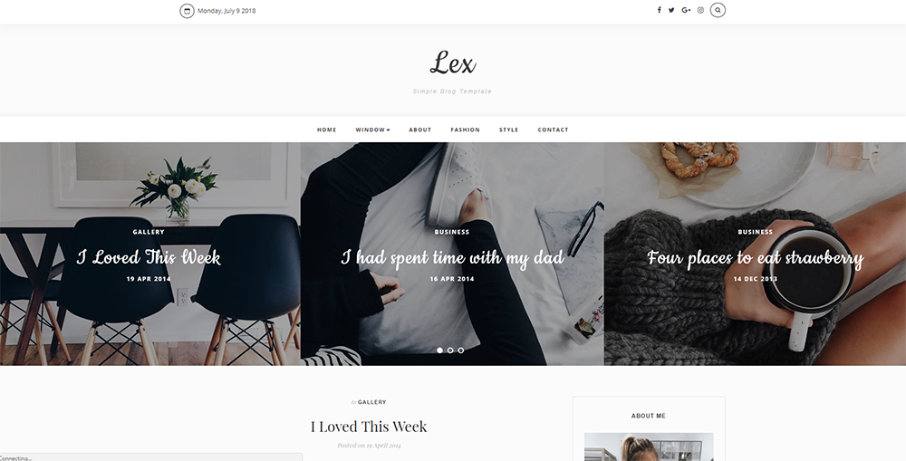 Sixty Eight Ave - lex blogger theme