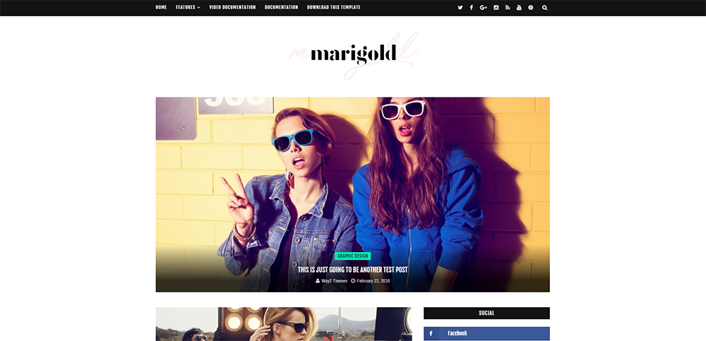 Sixty Eight Ave- Marigold Blogger Theme
