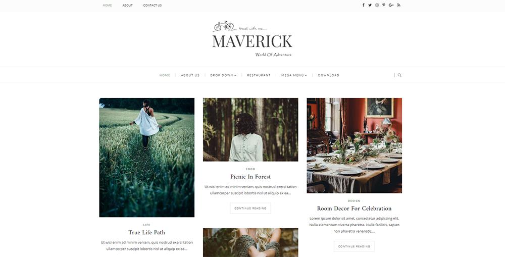 Sixty Eight Ave - maverick blogger template