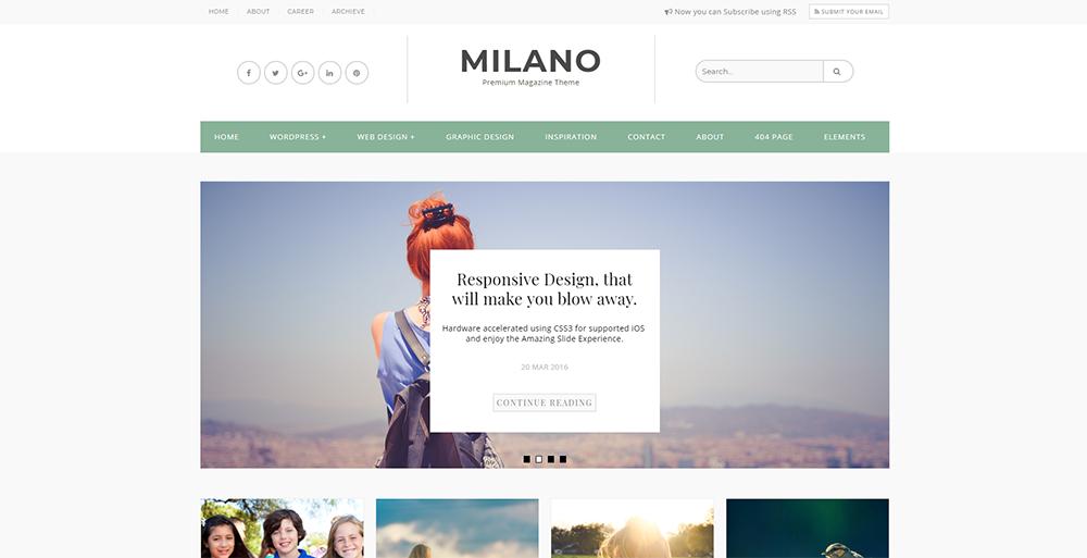 Sixty Eight Ave - Milano Blogger theme