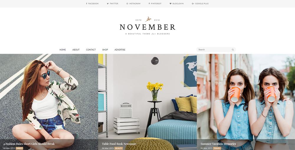 Sixty Eight Ave - November Blogger theme