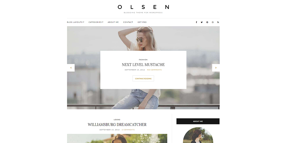 Sixty Eight Ave - olsen wordpress theme