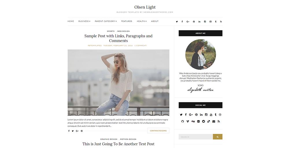 Sixty Eight Ave - Olsen Light Blogger Theme