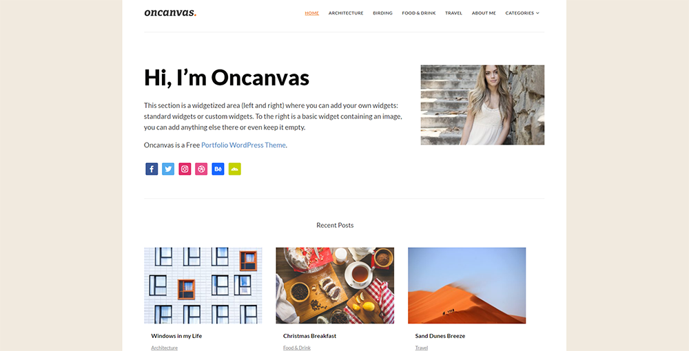 Sixty Eight Ave - oncanvas wordpress theme