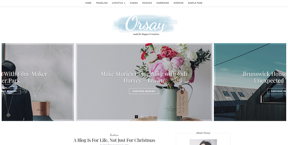 Sixty Eight Ave - orsay wordpress theme