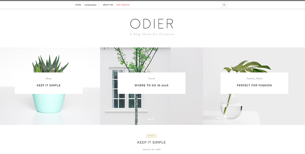 Sixty Eight Ave - odier wordpress theme