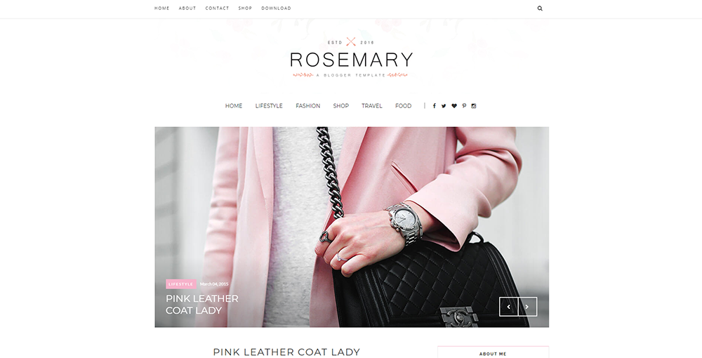 Sixty Eight Ave - Rosemary blogger theme