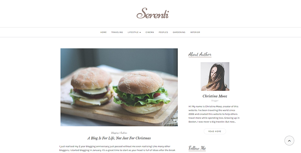 Sixty Eight Ave - serenti wordpress theme