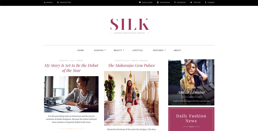 Sixty Eight Ave - silk wordpress theme