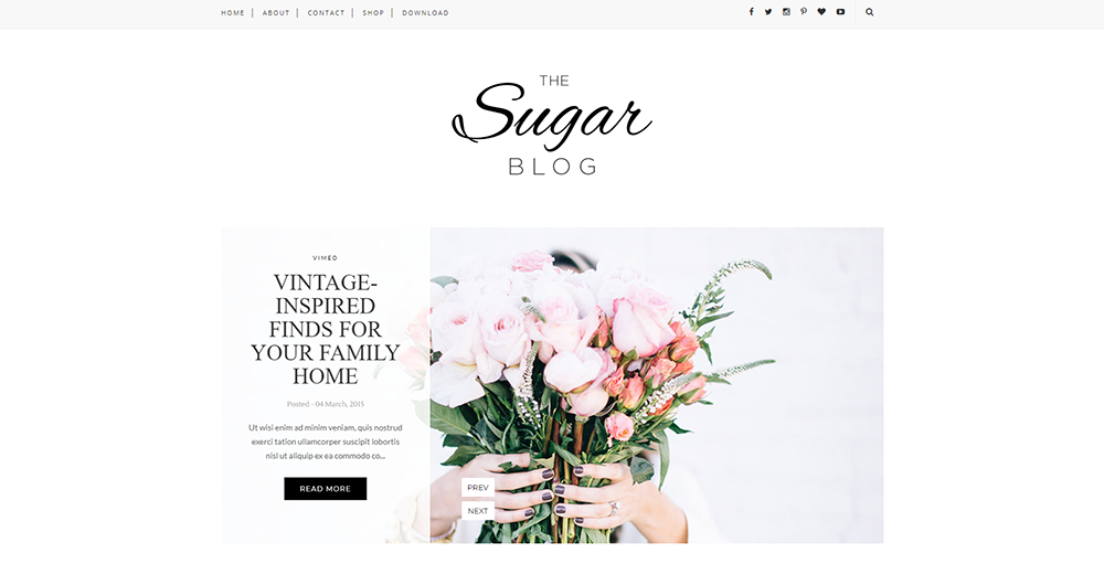 Sixty Eight Ave - Sugar Blogger theme